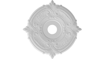 """3 1/2""""ID Round Moulding Attica Thermoformed PVC Ceiling Medallion"""
