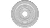 """3 1/2""""ID Round Moulding Cole Thermoformed PVC Ceiling Medallion"""
