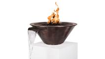 "30"" Cadiz Round Copper Fire & Water Bowl"