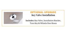 Optional key valve upgrade for fire bowls