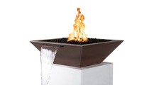 """30"""" Square Madrid Hammered Copper Fire & Water Bowl"""