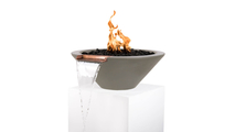 """36"""" Cadiz Fire and Water Bowl in Ash Finish"""