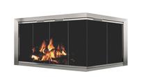 Avaleria ZC Corner Fireplace Door in Brite Nickel