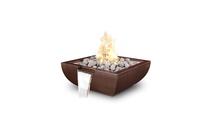 """36"""" Square Alicante Copper Fire & Water Bowl"""