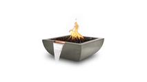 "36"" Alicante Concrete Fire and Water Bowl in Ash Finish"