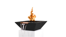"""30"""" Madrid Fire and Water Bowl in Black Finish"""