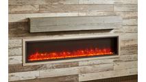 60 Inch Washed Cedar Supercast Modern Mantel