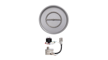19 Inch Round Drop In Stainless Steel Pan And 12 Inch Round Burner Ring With 12V Electronic Ignition System
