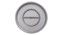 """19"""" Round Drop In Stainless Steel Pan And 12"""" Round Burner Ring"""