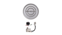25 Inch Round Drop In Stainless Steel Pan And 18 Inch Round Burner Ring With 12V Electronic Ignition System
