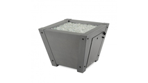 Axel Outdoor Square Gas Fire Pit Table