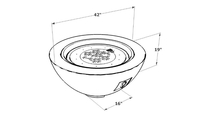"Black Cove 30"" Gas Fire Pit Bowl Dinmensions"