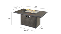 Brooks Gas Fire Pit Table Dimensions