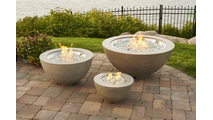 "White Cove 30"" Gas Fire Pit Bowl"