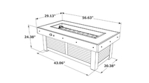 Denali Brew Linear Gas Fire Pit Table Dimensions