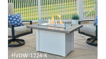 Driftwood Havenwood Gas Fire Pit Table with White Base