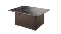 British Brown Granite Rectangular Gas Fire Pit