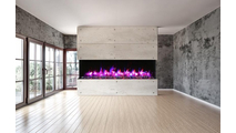 "Installed  88"" Tru View XL Electric Indoor Fireplace"
