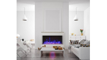 TruView XL Extra Tall 3 sided Indoor/Outdoor Electric Indoor Fireplace Modern Installation
