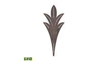 Palm Fronds Outdoor LED Sconce Light