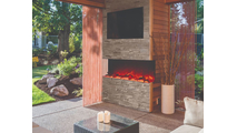 60 Inch TruView XL Deep 3 sided Indoor/Outdoor Electric Indoor Fireplace