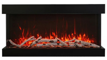 Fire & Ice Flame Yellow With Birch Log