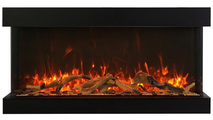 Fire & Ice Flame Yellow Orange With Driftwood Log