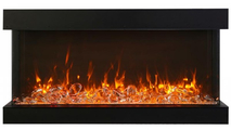 Fire & Ice Flame Yellow With Glass Chunks