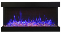 Fire & Ice Flame Blue With Glass Chunks
