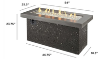 Grey Key Largo Linear Gas Fire Pit Table Dimensions