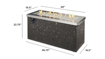 Stainless Steel Key Largo Linear Gas Fire Pit Table Dimensions