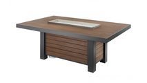 Kenwood Linear Dining Height Gas Fire Pit Table