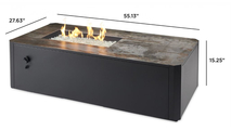 Kinney Linear Gas Fire Pit Table Dimensions