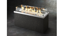 Stainless Steel Key Largo Linear Gas Fire Pit Table