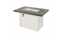 Stone Grey Havenwood Gas Fire Pit Table with White Base