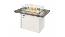 Stone Grey Havenwood Gas Fire Pit Table with Grey Base Glass Wind Guard