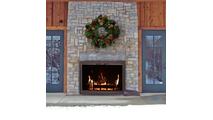 Phoenix Outdoor Masonry Fireplace Door Installed