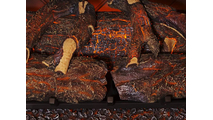 Close Up Of Sunset Charred Oak Log Set