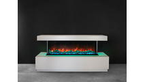 Wall Mount Pro Multi Electric Fireplace With Green Lights