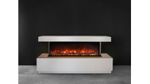 Wall Mount Pro Multi Electric Fireplace With Red Flames