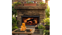 Stiletto Outdoor Fireplace Door in Rustic Black
