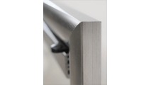 Starlight Brushed Steel Frame Profile