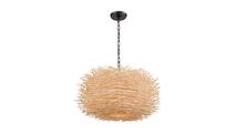 3-Light Bamboo Nest Chandelier