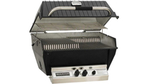 Broilmaster P4X Premium Gas Grill With Charmaster Briquets