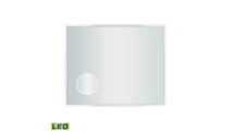 "36"" x 24"" LED Mirror In Brushed Aluminum"