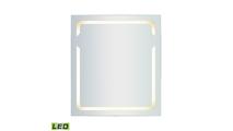 "32"" x 36"" LED Mirror in Brushed Aluminum"