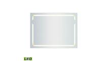 "48"" x 36"" LED Mirror In Brushed Aluminum Frame"