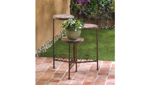 Rustic Triple Planter Stand 2