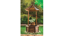 Rustic Wishing Well Planter 2