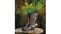 Spurred Cowboy Boot Planter 2